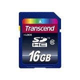 TRANSCEND SDHC 16GB [TS16GSDHC10] - Class 10 - Secure Digital / Sd Card